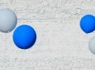 blue & white on white