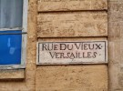 street sign - Versailles, France